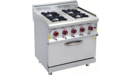 Gas Cooktop Oven - Products - Eser kitchen equipment, kitchen ...